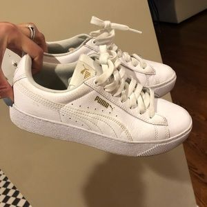 Women's white Puma sneakers with platform size 7